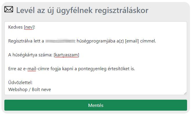 E-mail beállítások